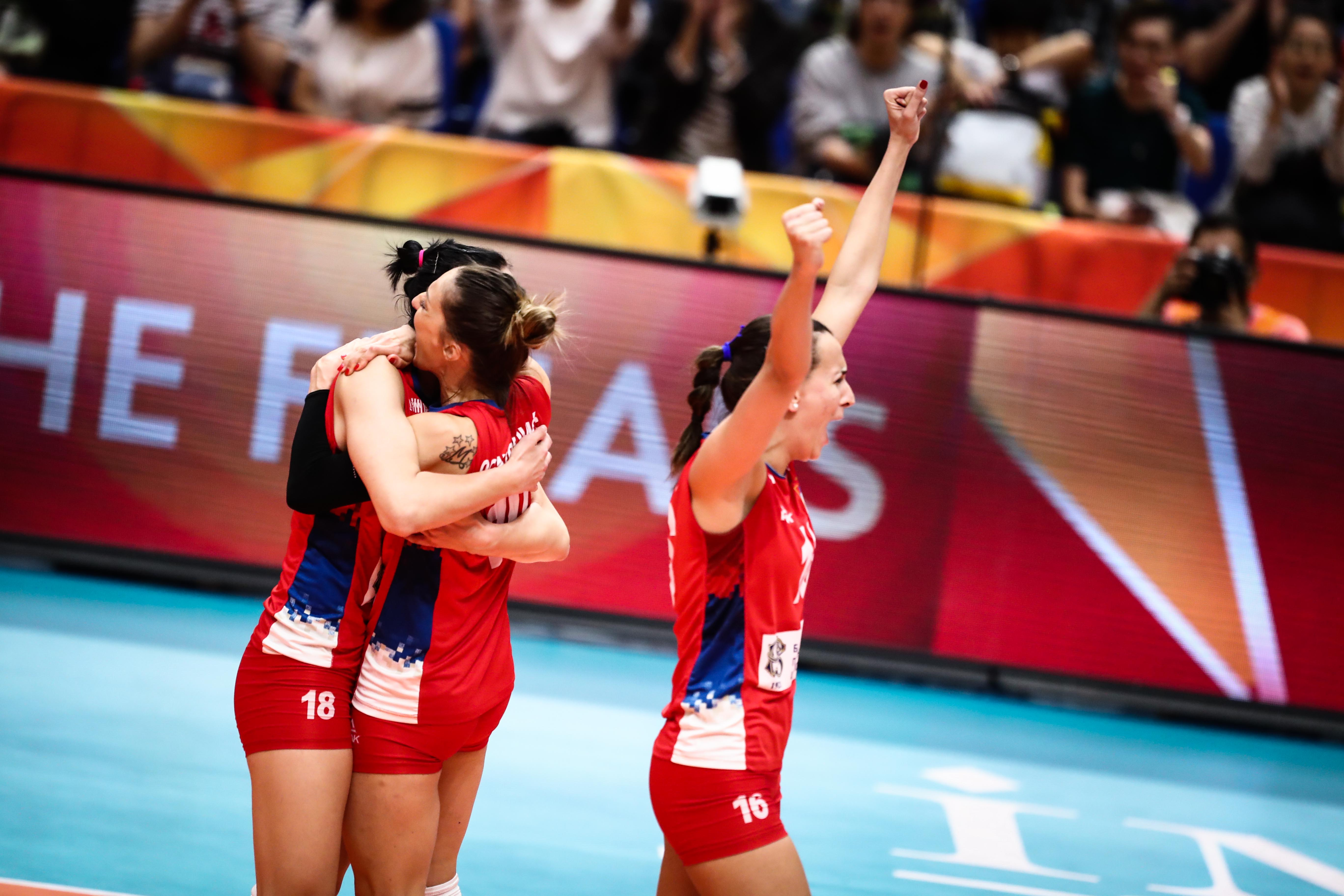 Post-Match - Serbia-Italy - FIVB Volleyball Women's World